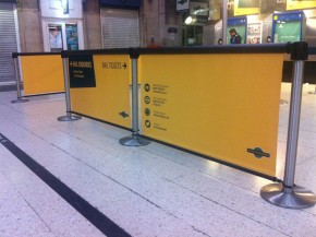 Q-Banner Custom Message Billboards for Belt Stanchions