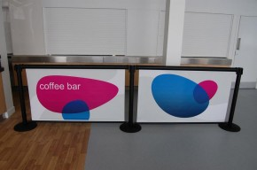 Q-Banner Stanchion Billboard @ Coffee Bar Restaurant